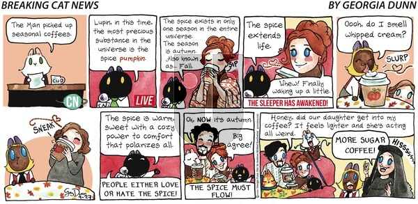 Breaking Cat News on Sunday September 27, 2020 Comic Strip