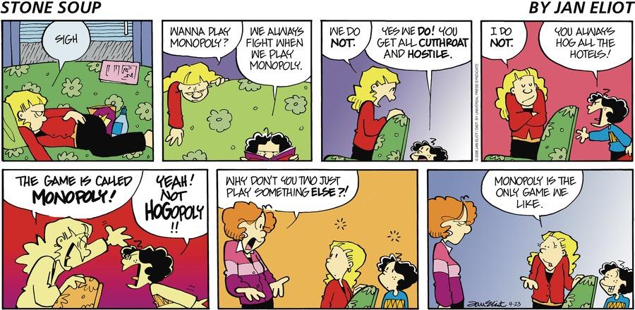 Stone Soup Comic Strip for April 23, 2006