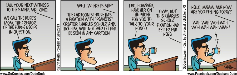 Dude and Dude for Oct 7, 2013 Comic Strip