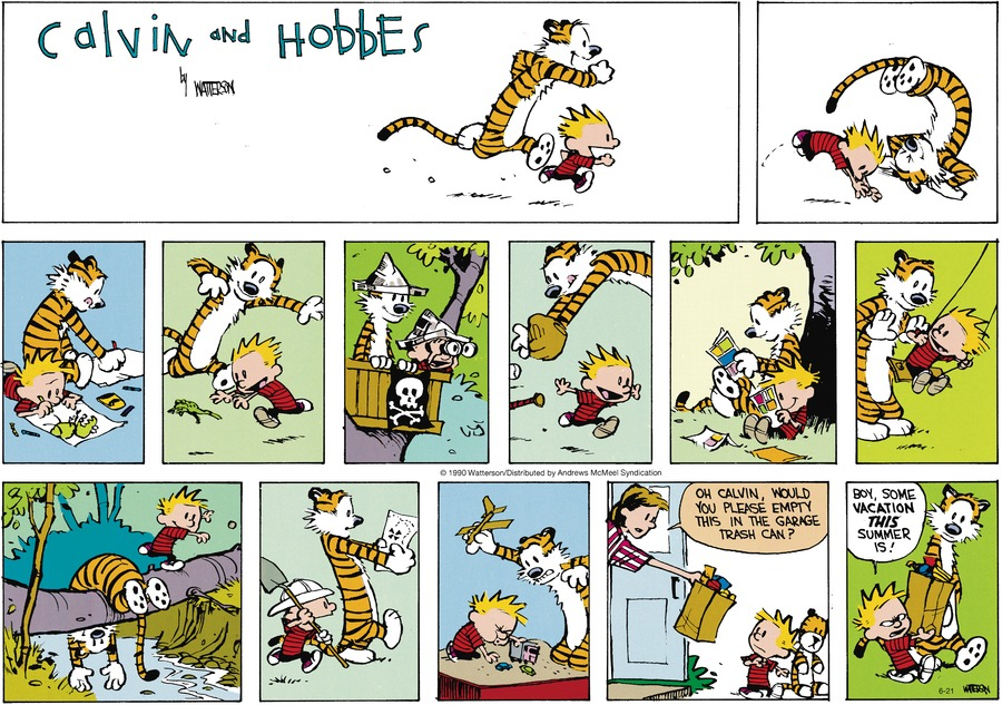 Calvin and Hobbes Comic Strip for June 21, 2020
