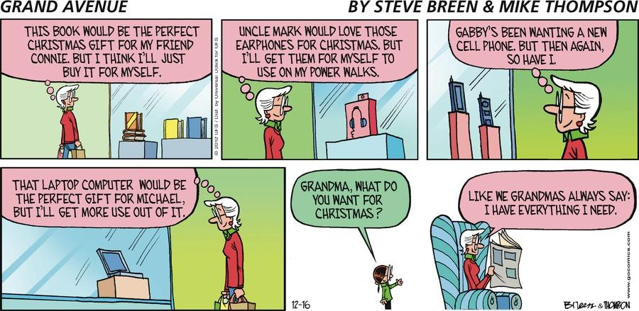 Grand Avenue Comic Strip for December 16, 2012