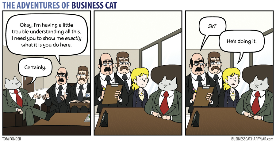 The Adventures of Business Cat for Sep 25, 2017 Comic Strip