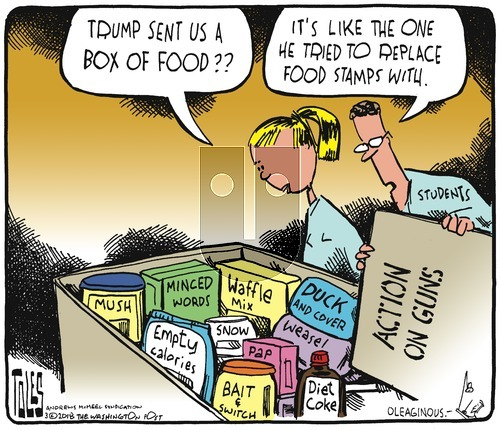 Tom Toles on Sunday March 4, 2018 Comic Strip