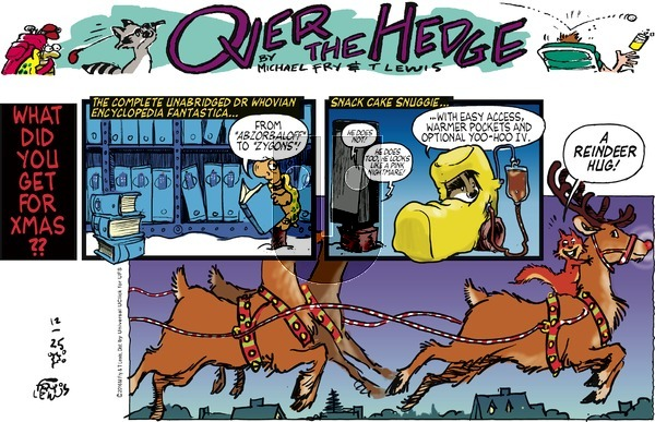 Over the Hedge on Sunday December 25, 2016 Comic Strip