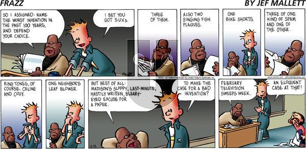 Frazz on Sunday February 18, 2007 Comic Strip