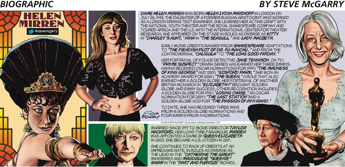 Biographic Comic Strip for April 25, 2021