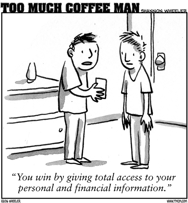 Too Much Coffee Man Comic Strip for September 10, 2016