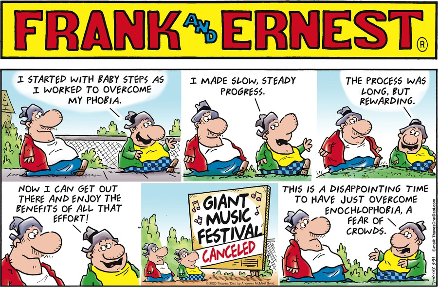 Frank and Ernest Comic Strip for May 31, 2020