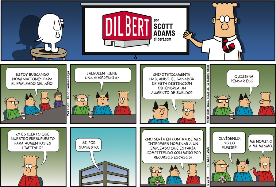 Dilbert en Español Comic Strip for May 26, 2019