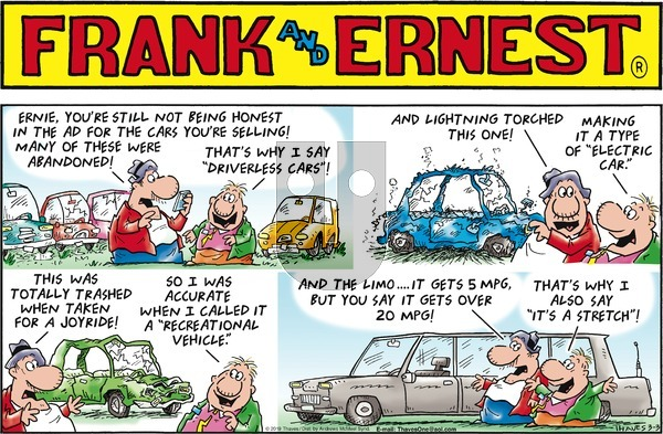 Frank and Ernest on Sunday March 3, 2019 Comic Strip