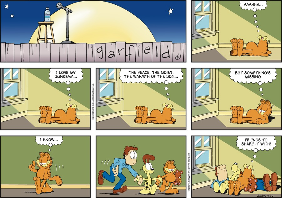 Garfield Comic Strip for February 02, 2020