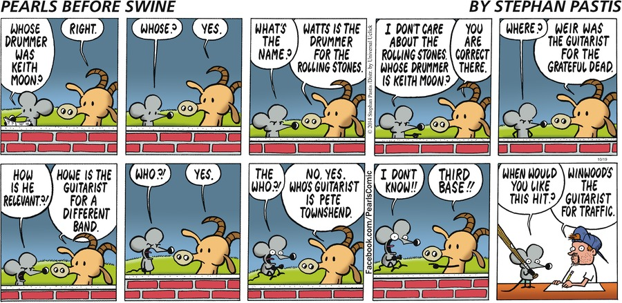 Pearls Before Swine for October 19, 2014 Comic Strip