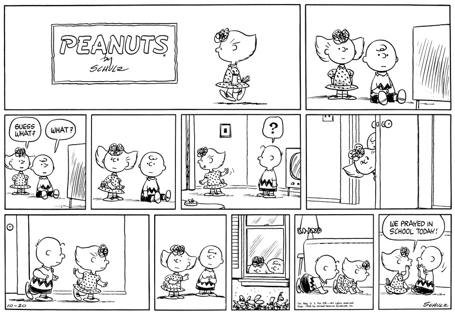 Peanuts Comic Strip for October 20, 1963