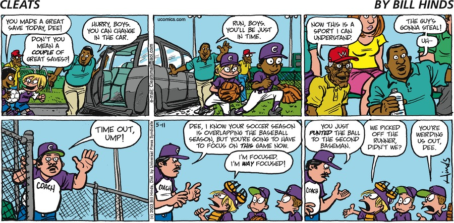 Cleats Comic Strip for May 11, 2003