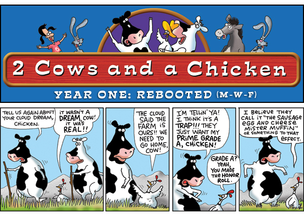 2 Cows and a Chicken for Jun 7, 2013 Comic Strip