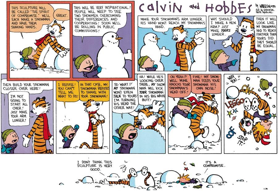Calvin and Hobbes for Jan 29, 1995 Comic Strip