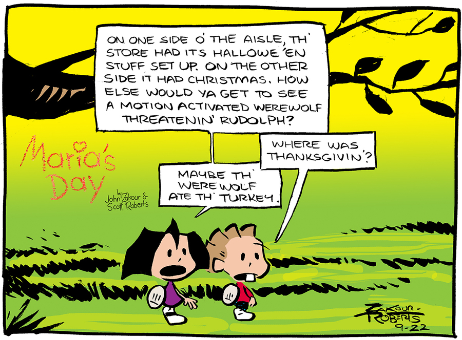 Maria's Day Comic Strip for September 22, 2019