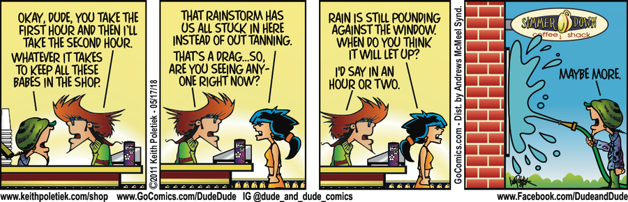 Dude and Dude for May 17, 2018 Comic Strip