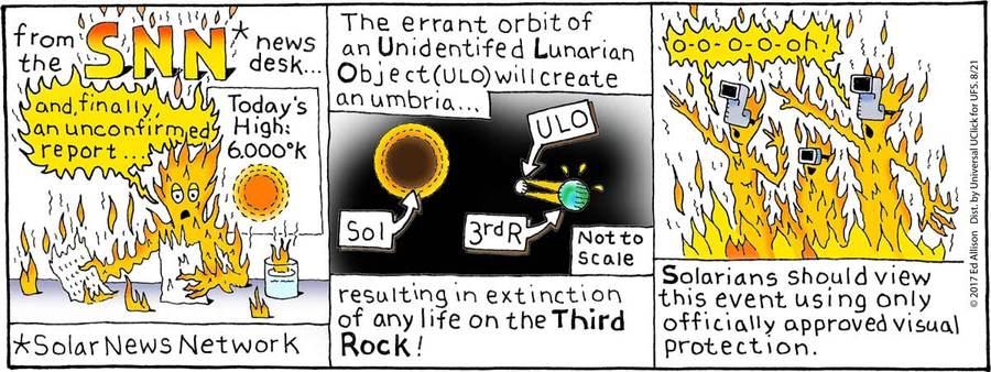 Unstrange Phenomena Comic Strip for August 21, 2017