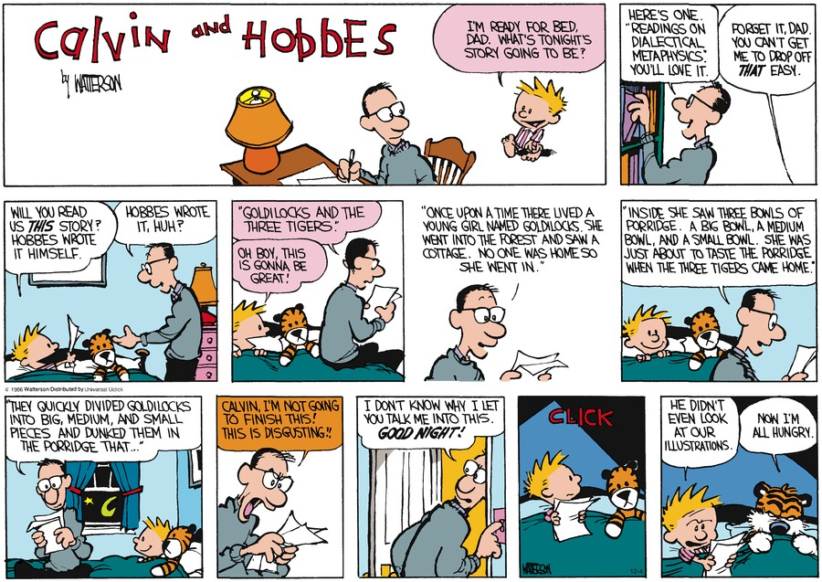Calvin and Hobbes Comic Strip for December 04, 2016