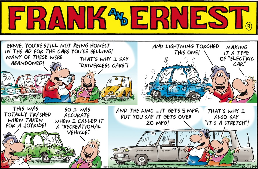 Frank and Ernest by Thaves for March 03, 2019