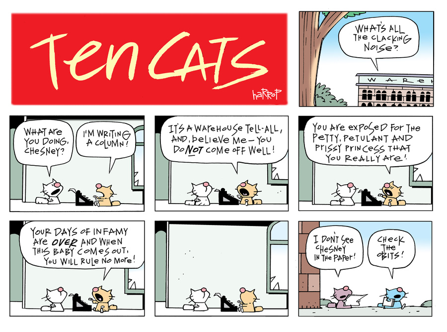 Ten Cats Comic Strip for March 24, 2019
