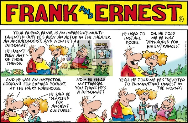 Frank and Ernest on Sunday June 28, 2015 Comic Strip