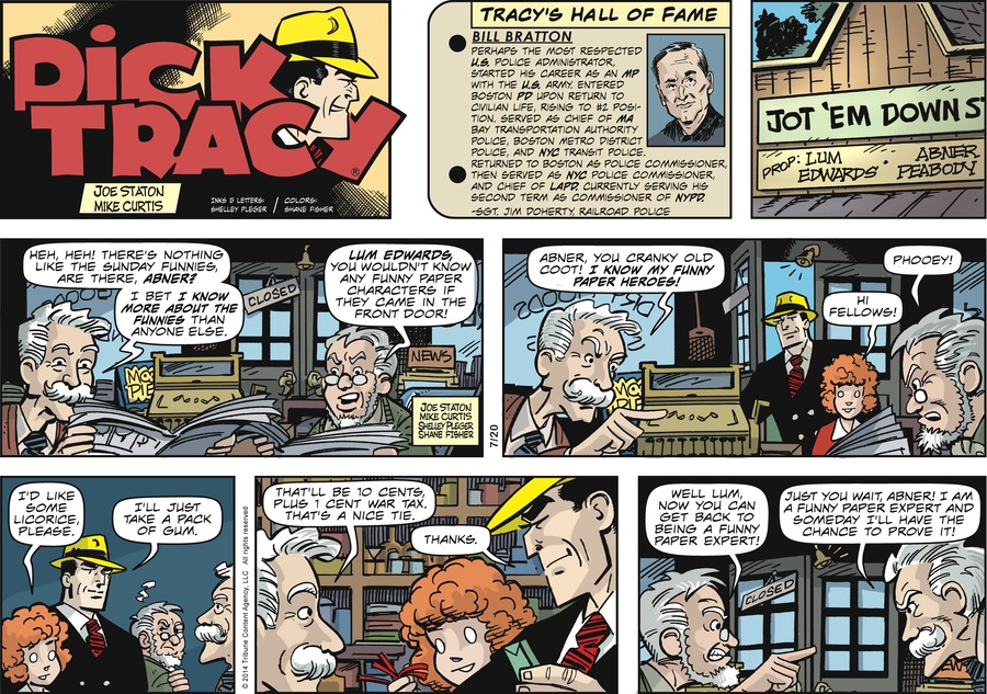 Dick Tracy Comic Strip for July 20, 2014