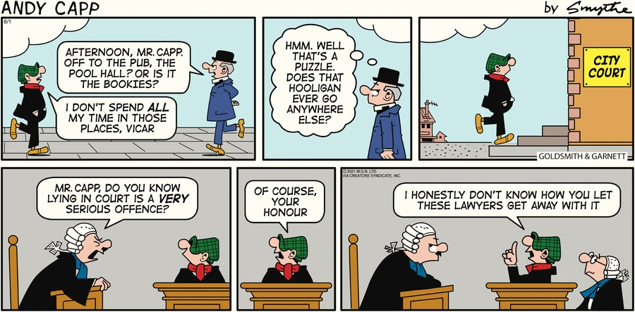 Andy Capp Comic Strip for August 01, 2021