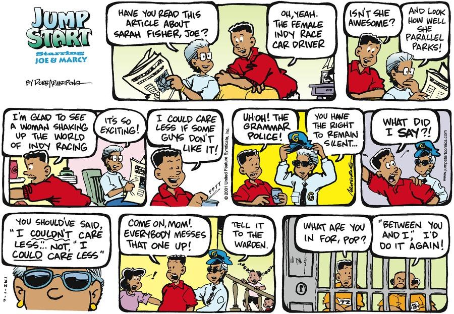 JumpStart Comic Strip for July 01, 2001