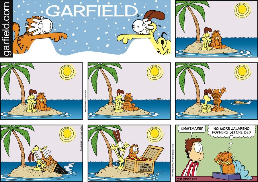 Garfield Comic Strip for February 21, 2016