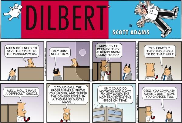Dilbert - Sunday August 13, 2006 Comic Strip