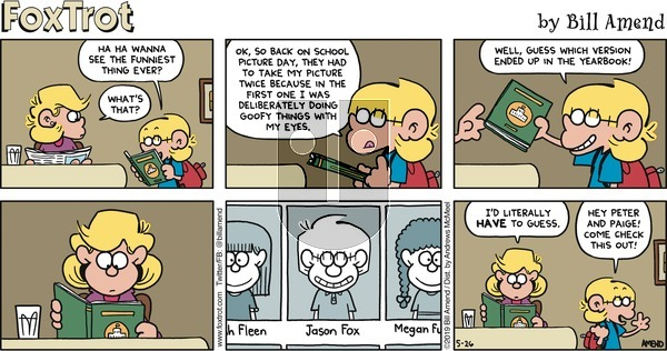 FoxTrot on Sunday May 26, 2019 Comic Strip