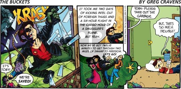 The Buckets on Sunday October 18, 2015 Comic Strip