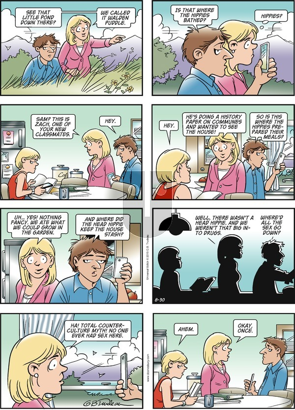 Doonesbury on Sunday August 30, 2015 Comic Strip