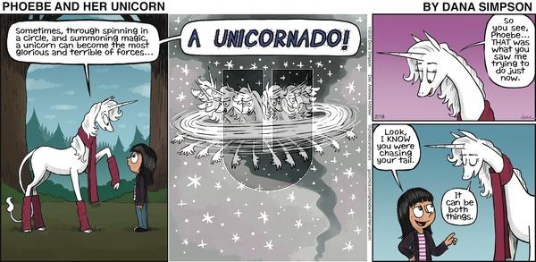 Phoebe and Her Unicorn - Sunday February 16, 2020 Comic Strip