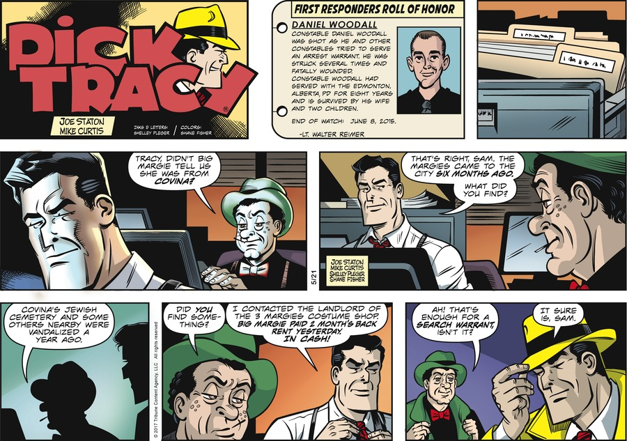 Dick Tracy Comic Strip for May 21, 2017