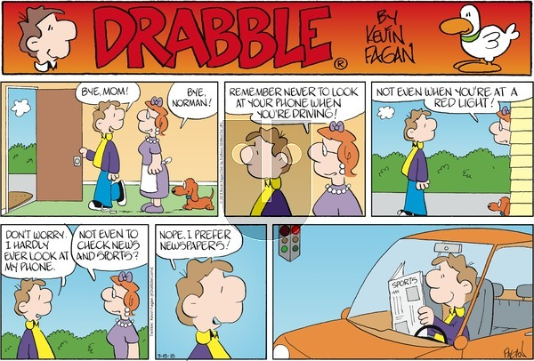 Drabble on Sunday March 18, 2018 Comic Strip