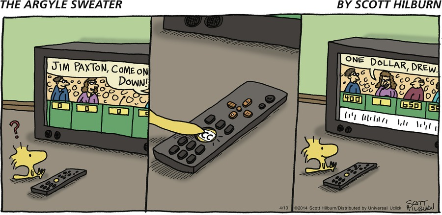 The Argyle Sweater Comic Strip for April 13, 2014