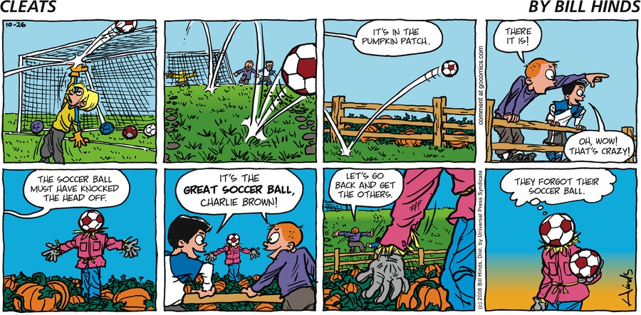 Cleats Comic Strip for October 26, 2008