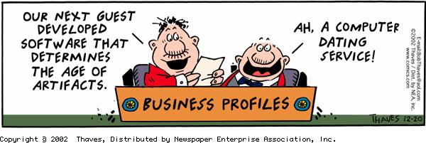 Frank and Ernest Comic Strip for December 20, 2002