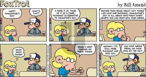 FoxTrot on Sunday February 14, 2021 Comic Strip