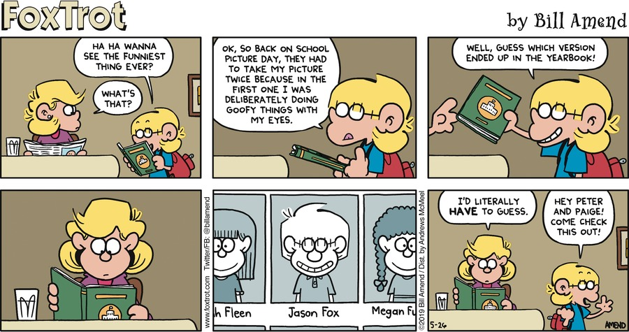 FoxTrot by Bill Amend for May 26, 2019