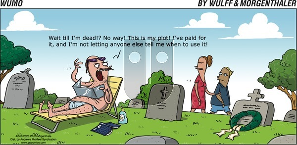 WuMo on Sunday April 5, 2020 Comic Strip