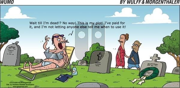 WuMo - Sunday April 5, 2020 Comic Strip