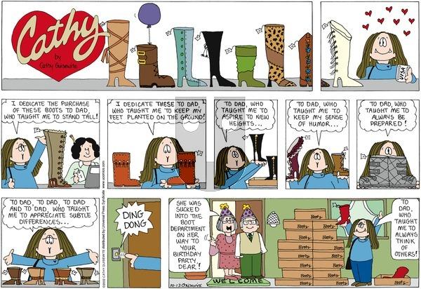 Cathy on Sunday October 13, 2002 Comic Strip