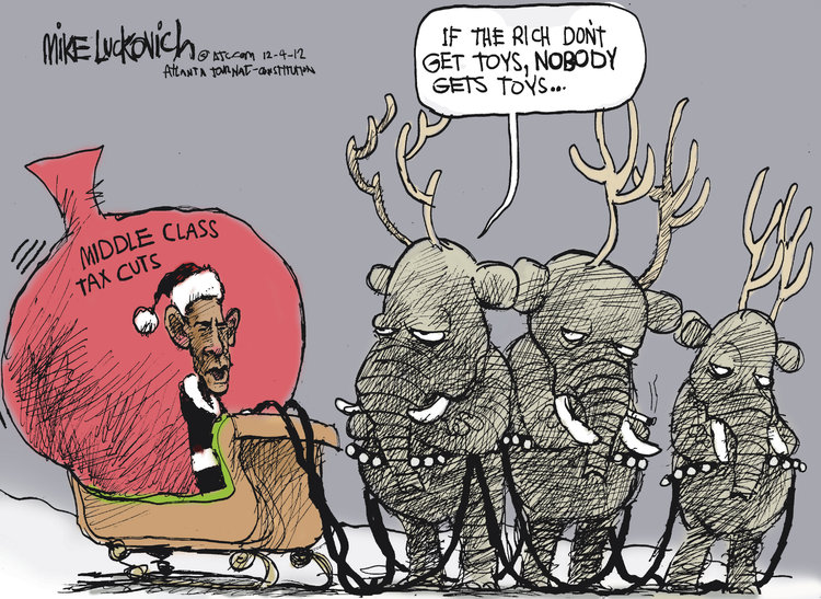 Mike Luckovich for Dec 4, 2012 Comic Strip