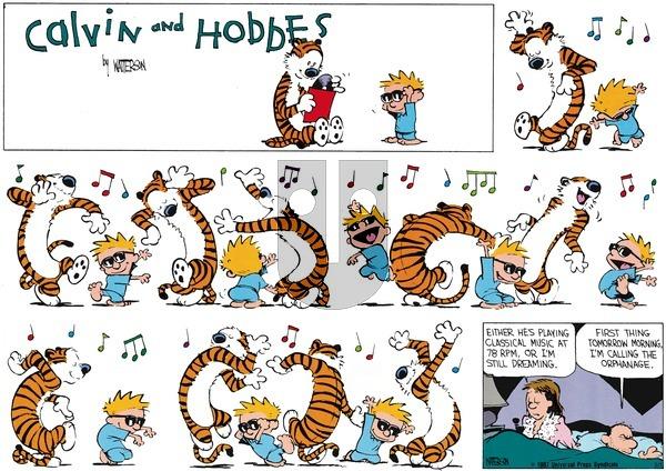 Calvin and Hobbes - Sunday January 12, 1992 Comic Strip