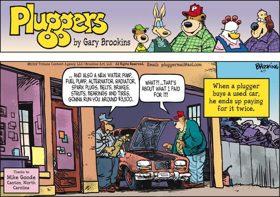 Pluggers Comic Strip for April 07, 2019
