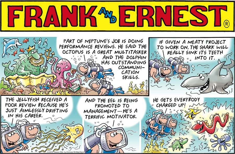 Frank and Ernest Comic Strip for January 13, 2019